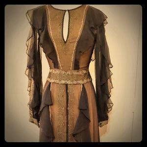 BCBG MAXAZRIA Embroidered Maxi Dress 2 NWT
